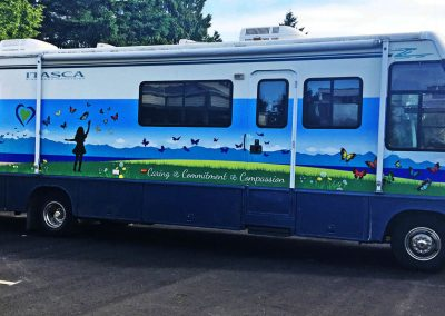 Nanaimo Hospice RV wrap design